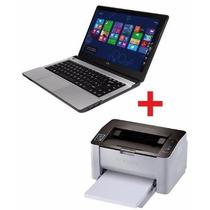 Notebook Cx 4gb 500gb Win10 + Impresora Samsung M2020w Wifi