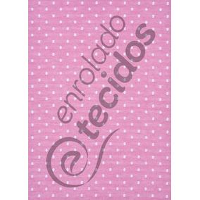 Tecido Jacquard Fio Tinto Rosa Bebê E Branco Poá 3m X 2,8m