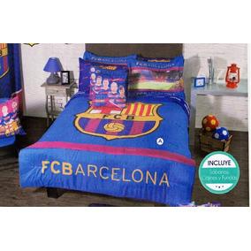 Barcelona Fcb Edredon Mat Colcha Ninos 9pc Fubol Soccer Team