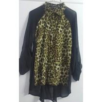 Camisa Animal Print Talla M Dama Zara Forever 21