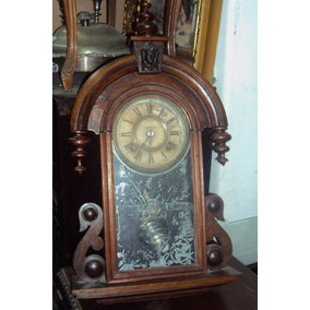 Reloj De Pared Antiguo Corona Ansonia De Roble (1771)