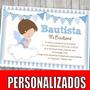 Kit Imprimible Bautismo Angelito Decoración Candy Bar Varón