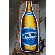 Cartel De Quilmes De Plástico. Impecable!!! Unico!!