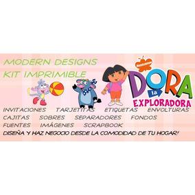 Kit Imprimible Dora La Exploradora Adornos Invitaciones Y+