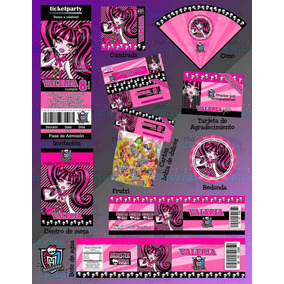 Invitaciones Monster High-draculaura-invitaciones Infantiles