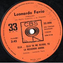 Leonardo Favio Ella...ella Ya Me Olvido, Yo La Recuerdo...