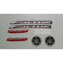 Kit Adesivos Yamaha Ybr Factor 125 2009 Vermelha