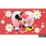 Minnie Red Vermelha Painel 3x1,60m Lona Festa Aniversário