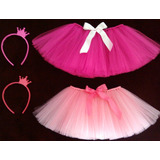 Tutu Danza - Balet - Bailarina - Princesa + Vincha Coronita