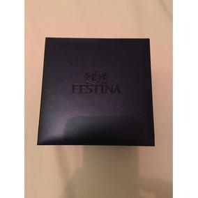 Caixa Estojo Relógio Festina Azul Novo Nunca Usado