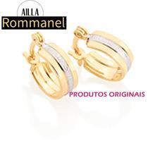 Brinco Argola Lisa Infantil Tendo Fol/ Ouro Rommanel 525128