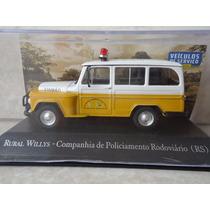 Miniatura Rural Willys Companhia De Policiamento Rodoviário
