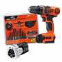 Taladro Inalambrico Black Decker 12 V + Set Mechas + Bateria