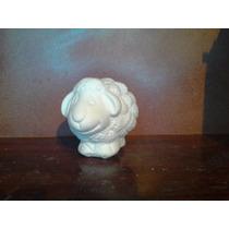 Alcancias Borrego Yeso Ceramico Blanco P/pintar Paq. 10 Pzas