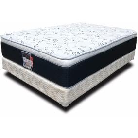 Colchón Y Box King Size Spring Air Soporte Confort Cama