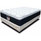 Colchón Y Box Matrimoniales Spring Air Soporte Confort Cama