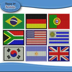 Mini Bandeira Bordada 3x4,5cm Estados Países Brasil Patch