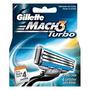 20 Cartucho Gillete Mach 3 Turbo Navajas Para Rasurar!!