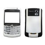 Carcasa Blackberry 8320 Gris Blanca Con Trackball