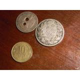 2 Monedas Chilenas Antiguas De Plata