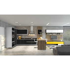 Cozinha Planejada Com Ambiente Integrado.