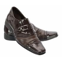 Sapato Masculino Social Verniz Diamante Khaata