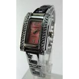 Reloj York Quartz Dama + Pulsera Acero Con Dijes Regalo Gtia