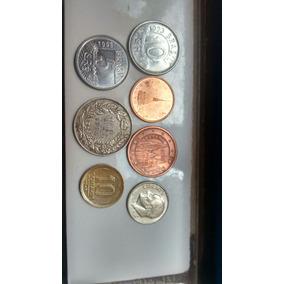 Lote Com 7 Moedas Euro_franco_cruzeiros