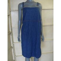 Vestido De Mezclilla Azul Talla 28 Marca Venezia Jeans