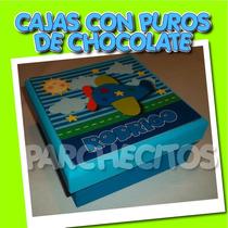 Puros De Chocolate. Puros Personalizados Regalo Nacimiento.