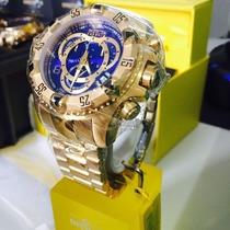 Relógio Invicta Reserve Excursion Azul Envio Imediato 12x