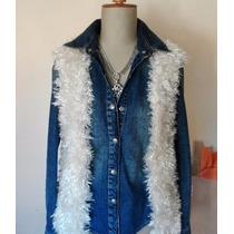 Chaleco Peludo Tejido A Mano - Sweaters Diseños Tejidos