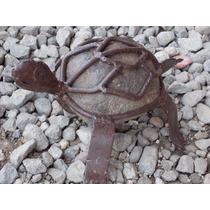 Escultura Tortuga Artesanal De Piedra Estilo Antiguo.