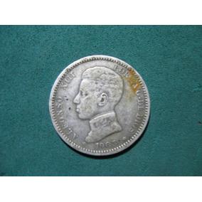 Moneda 1 Una Peseta 1903, España Km# 721 De Plata