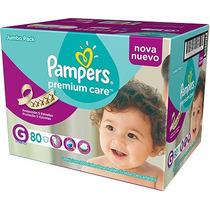 Fralda Pampers Premium 80 Unidades - Tam G Validade 30/04/17