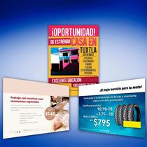 1000 Volantes 1/2 Carta Color Frente,vta. 1 Tinta C/garantia