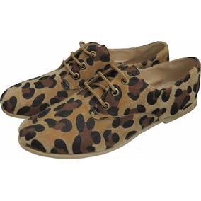 Zapatos Acordonados Dama O Mujer Animal Print Nueva Moda