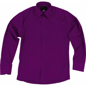 Camisa De Vestir Para Adulto Morada Talla Extras 44 A 50