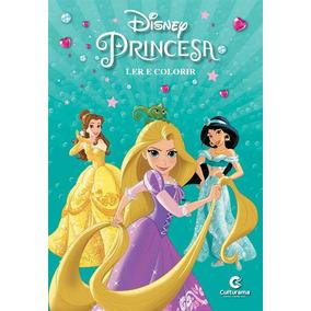 Livro Princesas Disney - Ler E Colorir Com Giz De Cera - Cul