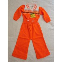Macacão Bebê Vintage Anos 70
