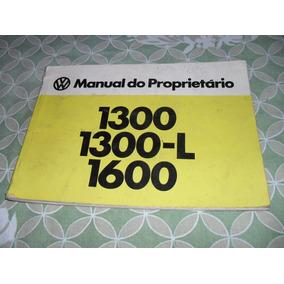 Fusca 1600 76 - 77 - Manual Proprietário Fusca 1600 Original