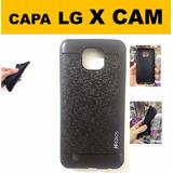 Capa Case Preta Celular Lg X Cam Dual Lgk580 - Frete Grátis