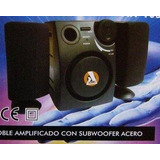 12 Parlantes Para Pc Con Subwoofer Acero X Mayor