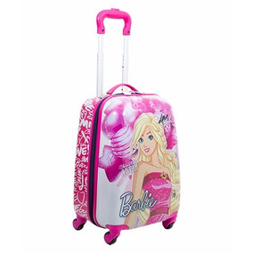 Mala Escolar Rígida Barbie 4 Rodas 360º - Sestini