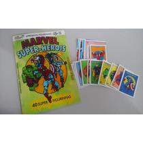 Álbum Marvel Super Heróis Ed Olimpus - Figurinhas Para Colar