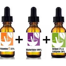 Kit Retimol 5%+ácido Hialurônico 100% Vitamina C 35% Nature