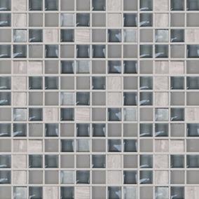 Malla Mosaico Veneciano Cristal Perla Gris Azulejos Cenefas