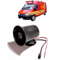 Sirene Automotiva Veiculos Especiais 5 Sons Simples