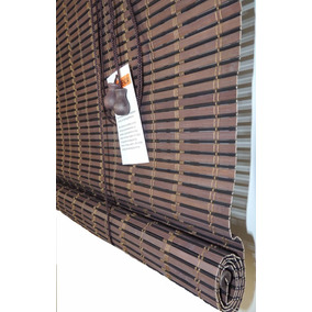 Cortina Rolo De Bambu Zebrano 1,20x1,60 Persiana Horizontal