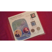 Moeda Half-dóllar No Folder Comemorativo John Kennedy!!!